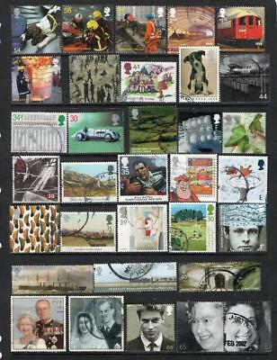 GB Commemorative Stamp 33 with  high values franked off paper all different