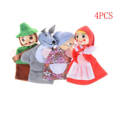 Little Red Riding Hood Story Play Game Finger Puppets Toys Set Gift TD