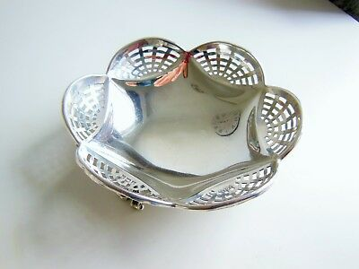 1923 Joseph Gloster Sterling Silver Footed Bon Bon/ Nut Dish