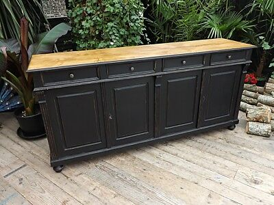 Old/antique Style Pine/ Black Painted Sideboard/cabinet/base/cupboard We Deliver