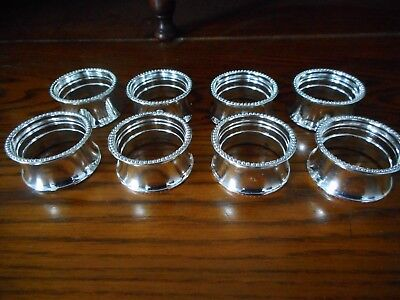 Set of 8 Silver Plated Napkin Rings