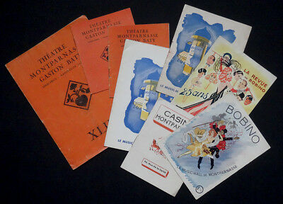 8 Programmes Théâtre Spectacle Bobino Casino Music Hall Montparnasse années 40