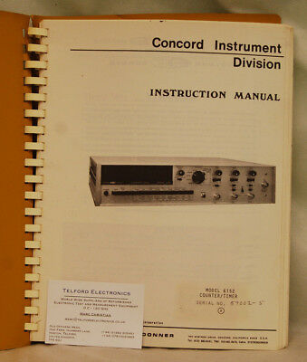 Systron Donner 6152 Counter/Timer Instruction Manual
