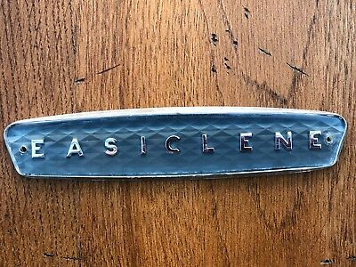 "original 1940s kitchen unit company name plate  "" easiclene """
