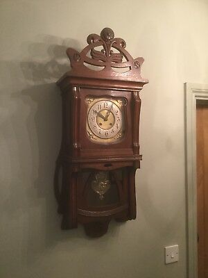 Antique Art Nouveau Wall Clock Sn-p