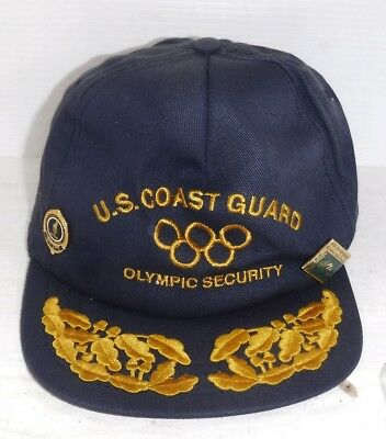 Vintage 1996 U.S. Coast Guard Olympic Games Security Detail Hat and Pins Atlanta