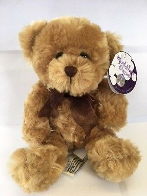 Cuddles Time Brown Teddy Bear Soft Toy with Ribbon