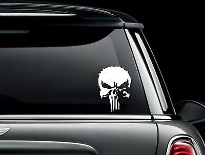Distressed Punisher Skull # 2 Vinyl Car Window Decal Bumper Sticker US Seller