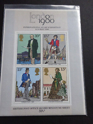 Gb 1979 Sir Rowland Hill/london 1980 Stamp Exhibition M/sheet *vf Mnh*