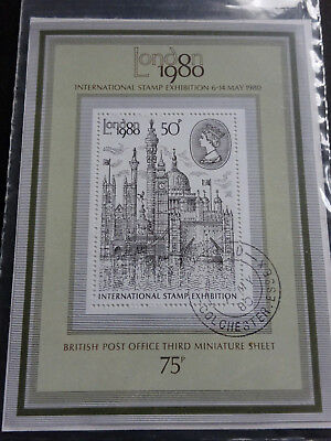 GB stamps. m/ s 1119. London 1980 International Stamp Exhibition. 1st Day Issue