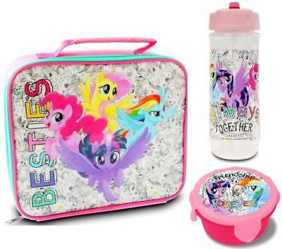 My Little Pony 'Besties' Lunch Bag/Box, Bottle and Snack Pot | MLP | Lunchbox