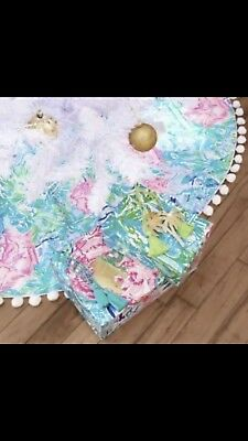 Lilly Pulitzer Bohemian Queen Christmas Tree Skirt New In Plastic 889069428914