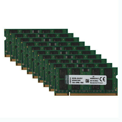 Kingston Lot 2GB PC2 6400S 2RX8 DDR2 800MHz Laptop Memory RAM SODIMM Notebook &