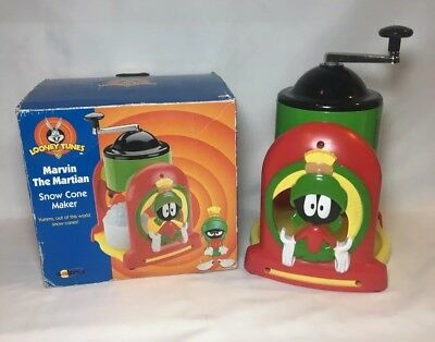 Marvin the Martian Snow Cone Maker Looney Tunes w Box Manual - Vintage 1998