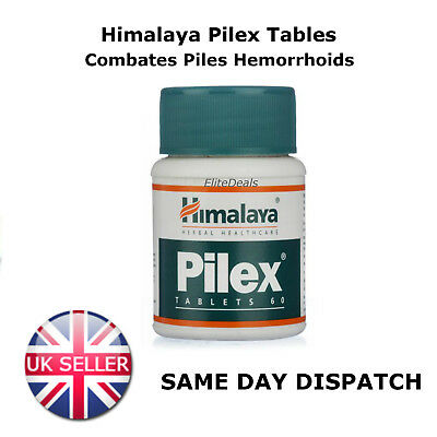 HIMALAYA HERBALS PILEX Tablets HAEMORRHOIDS RECTAL ITCHING  60 Tablets UK SELLER