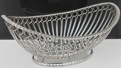 Georgian Style Silver Plated Wirework Basket Bowl - Nuts / Sweets Etc