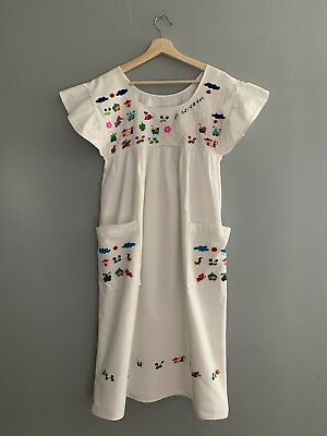 Women's Size Small El Salvador Hand Embroidered Dress Peasant