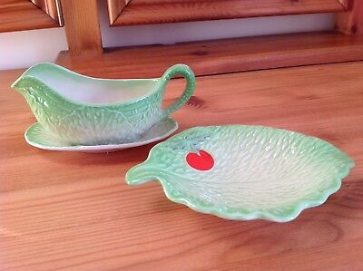 Beswick Gravy/sauce Boat With Serving Plate. Side/pin Dish/plate