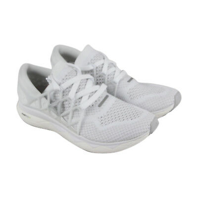 53fdbf67174aa1 Reebok Floatride Run Ultk Mens White Textile Athletic Lace Up Running Shoes
