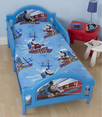 Thomas The Tank Engine and Friends Blue Wheesh Junior Toddler Duvet Cover Set