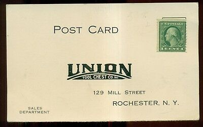 1920's Union Tool Chest Co. Sales Department Reply Post Card - Rochester,NY