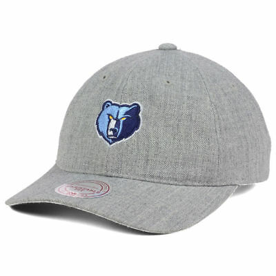competitive price 3c497 7f457 Memphis Grizzlies Mitchell   Ness NBA Heather Grey Dad Hat Cap Adjustable  M N TN