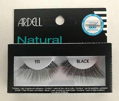 9f9d1b31e5a ARDELL NATURAL FASHION Lashes #111 Eyelashes Black 12 Pairs - $18.99 ...