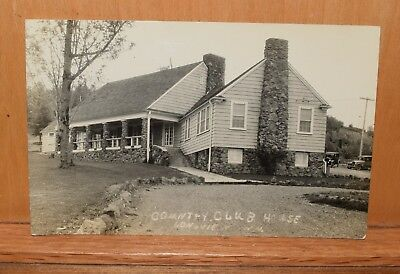 vintage azo RPPC postcard,country club house,longview washington,