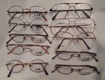 10 Pc. Assorted Metal Styles by Elan Eyeglass Frame Lot New Old Stock  #287/7