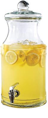 Circleware Valley Farm Glass Beverage Drink Dispenser with Lid, 1.5 gallons NEW