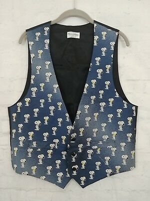 Vintage Cervantes Snoopy Vest Mens Medium Blue Tuxedo Prom