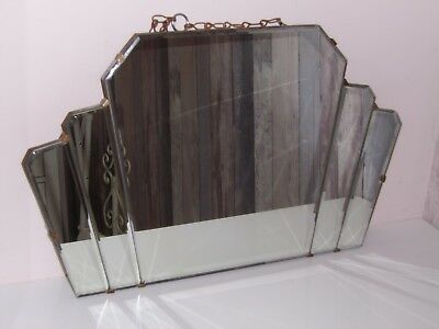 Art Deco Hanging Wall Mirror All Original With Chain Loft Find