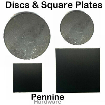 MILD STEEL Sheet ROUND Discs or SQUARE Plates Guillotine & Laser Cut Fly Press