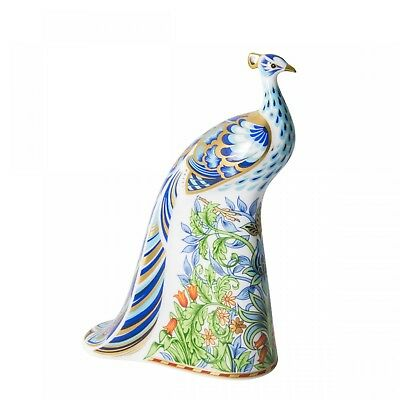 New Royal Crown Derby 1st Quality Manor Peacock Paperweight