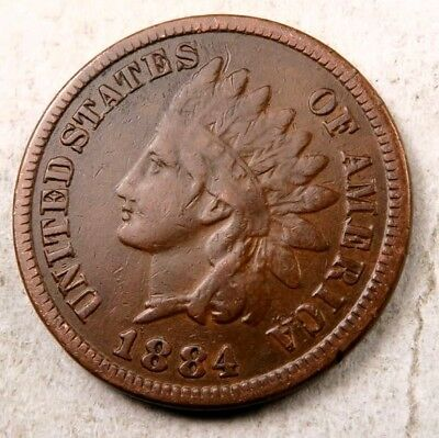 1884 Indian Head Penny // Fine // (I454)