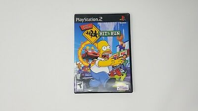 Simpsons: Hit & Run (Sony PlayStation 2, 2003) PS2 - Very Good Condition