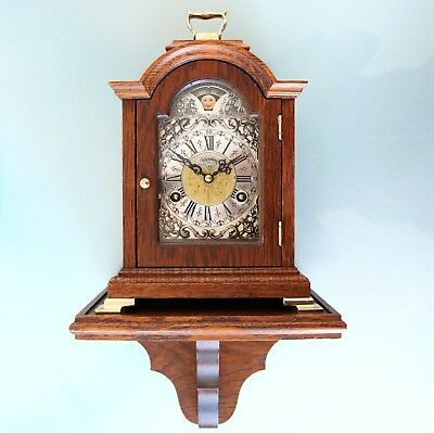 Vintage WARMINK Mantel Wall Clock/Set/Console Match! Mid Century Moonphase Chime