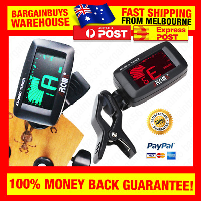 Clip On Digital Guitar Tuner Portable Universal Tuner for Chromatic Guitar Bass