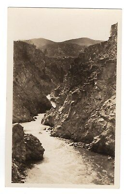 RPPC, View of Chelan Gorge, buildings in background, Washington