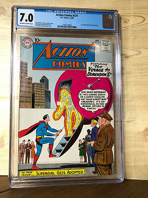 Action Comics #271 (Dec 1960, DC) CGC 7.0 Lex Luthor and streaky appearance