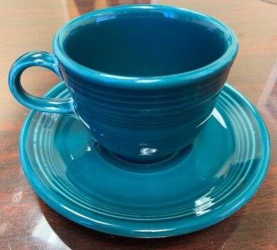 1431a4a2a7d Homer Laughlin Fiesta Fiestaware 7.75 oz Coffee Tea Cup with Saucer -  Juniper
