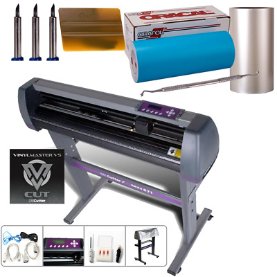 "28"" USCutter MH Vinyl Cutter Sign Paint Mask Stencil KIT w/Oracal ORAMASK 813"