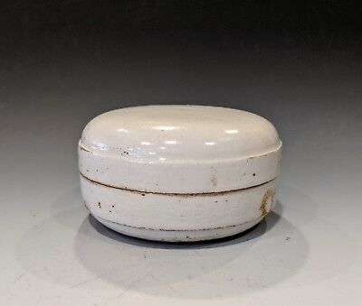Chinese Song Dynasty Ding Yao White Glazed Porcelain Cosmetic Box and Cover
