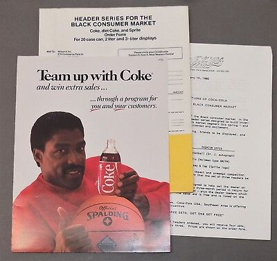 Vintage COCA-COLA MARKETING/ADVERTISING PACKET Black Americana DR J coke 1980s