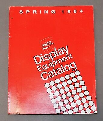 COCA-COLA CATALOG OF DISPLAY EQUIPMENT Coke coolers advertising promotional 1984