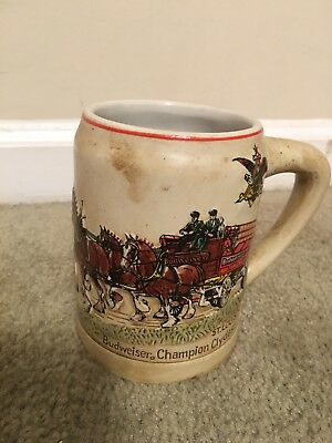 1980 Budweiser Christmas Holiday Stein CS19 First in Series, GOOD CONDITION!!!