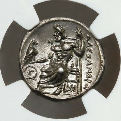 NGC AU. Alexander The Great Drachm. The most Artistic known Engraver. Greek coin