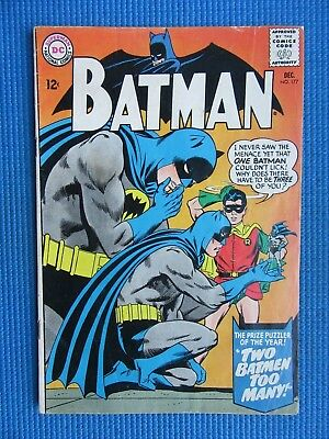 Batman # 177 - (Vg) - Two Batmen Too Many - Robin