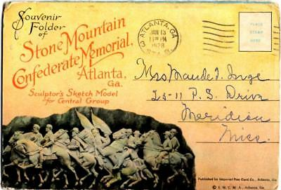Souvenier Folder of Stone Mountain Confederate Memorial - Atlanta, Georgia -1928
