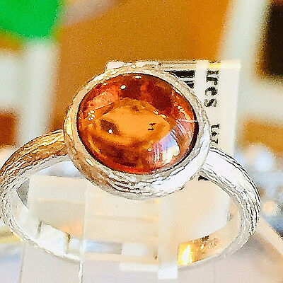 Amber Ring Size 6,5 Genuine Russian Baltic Butterscotch Egg Yolk Vintage Polish